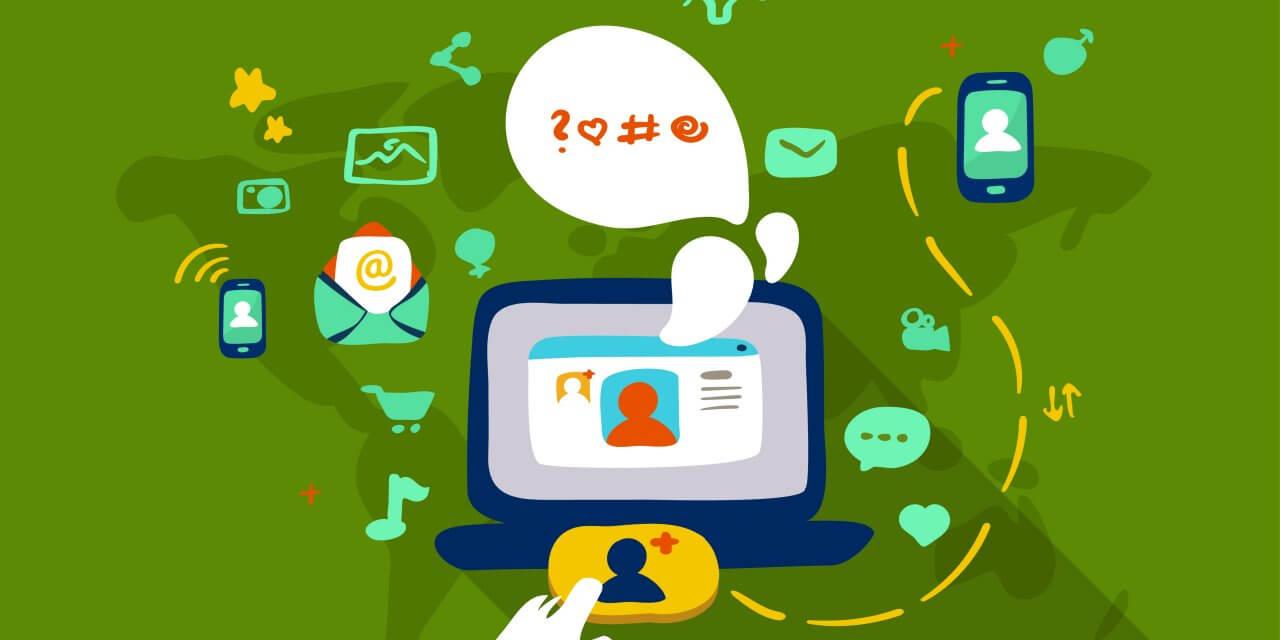 Illustration over sociale medier
