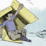Forældre til børn i kasser