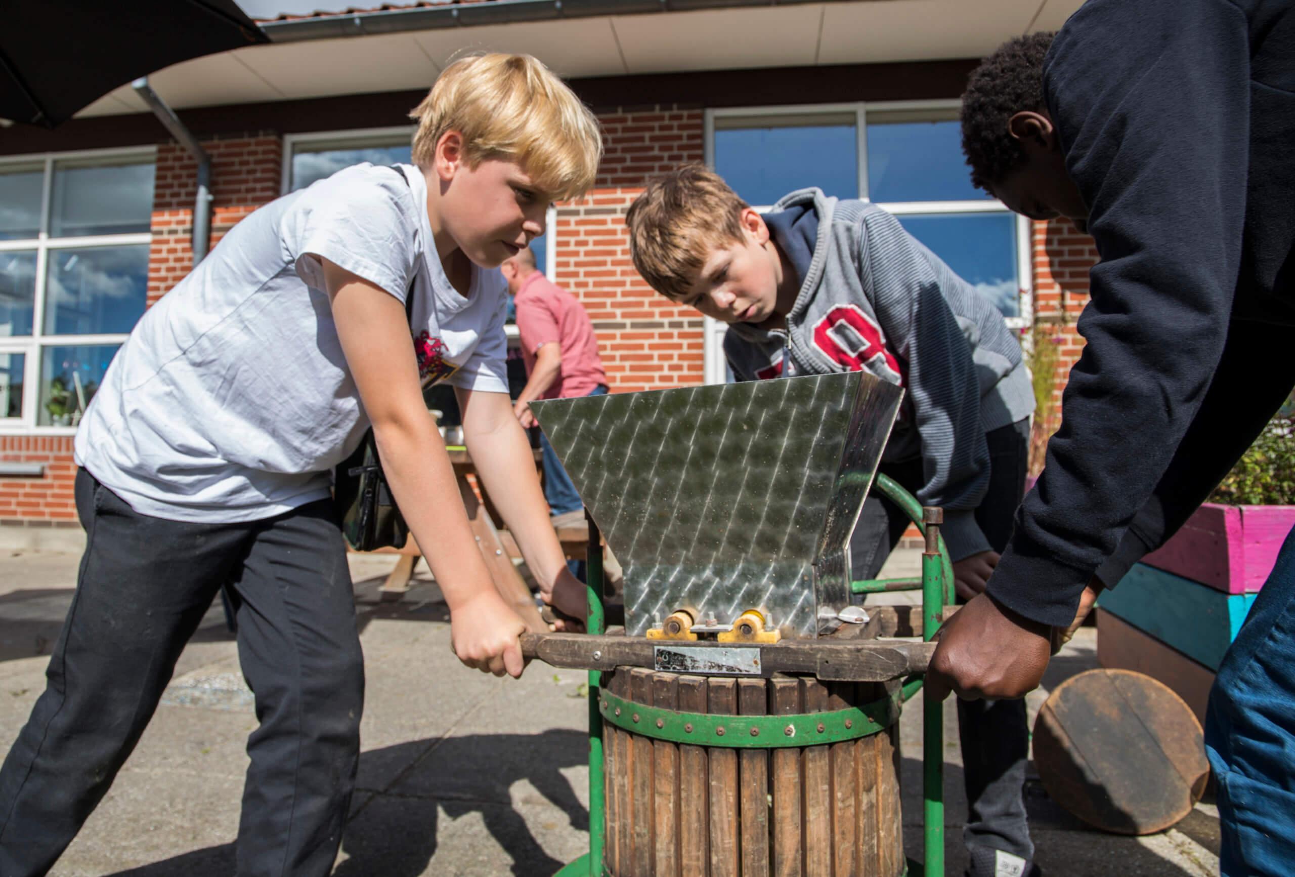 Æbledag på Bjedstrup Skole